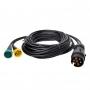 Kabelset 5M met stekker 7-polig en 2x connector 5-polig