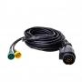 Kabelset 9M met stekker 13-polig en 2x connector 5-polig